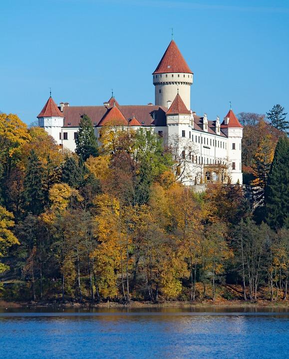 Castle, Konopiště, Tower, Historical, Ferdinand D'este