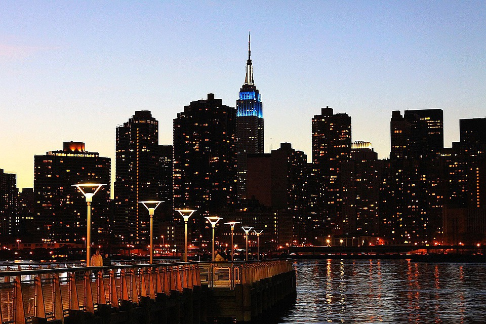 New, York, City, Skyline, Building, Tower, Lights
