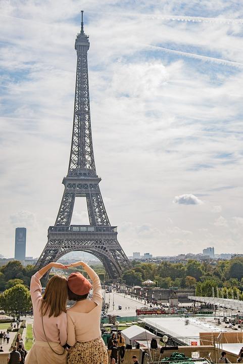 Eiffel, Tower, Paris, France, Woman, Europe, Landmark