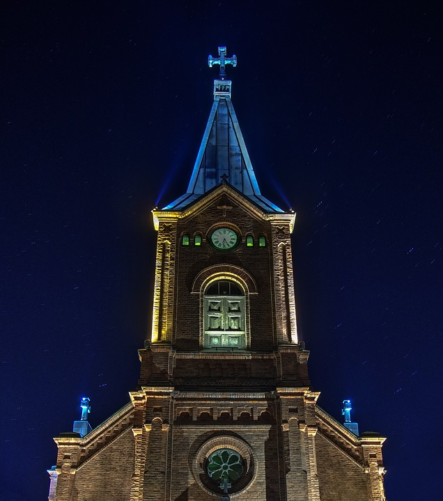 Church, Building, Sky, Tower, Blue, Finnish, Religion