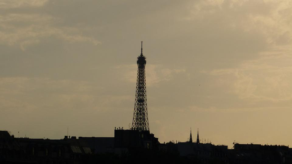 France, Paris, Eiffel Tower, Steel Structure, Tower