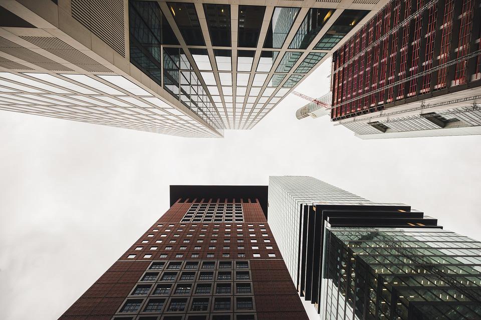 Building, Skyscrapers, Tower, Frankfurt, Architecture