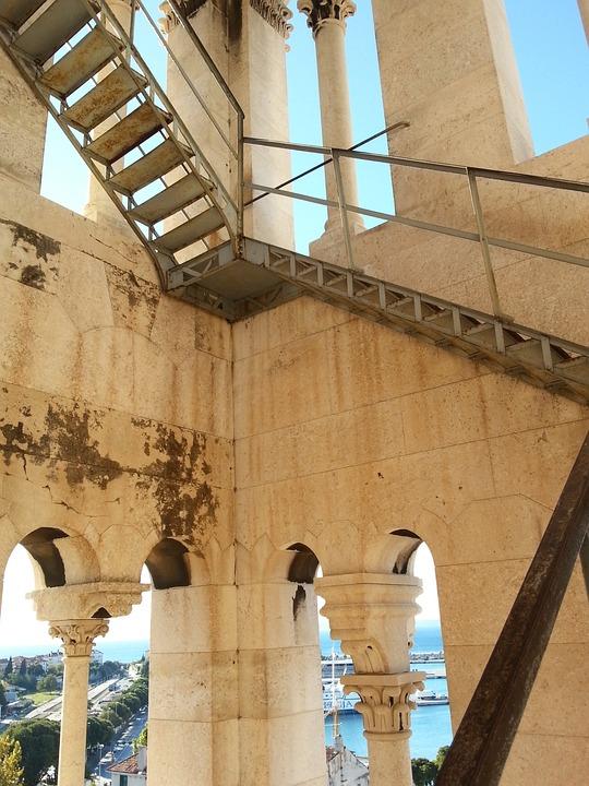 Stairs, Tower, Croatia, High