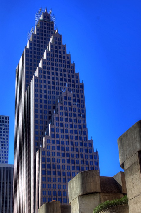 Houston, Texas, Usa, Skyscraper, High Rise, Tower