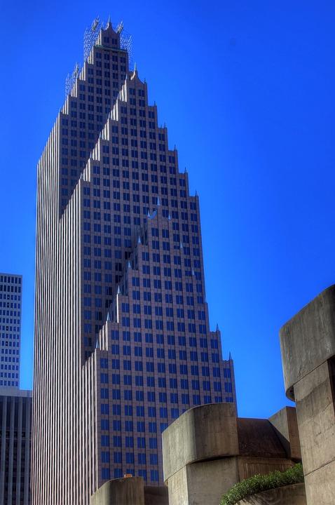 Houston, Texas, Usa, Skyscraper, High Rise, Tower