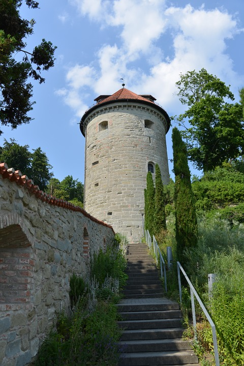 überlingen, Lake Constance, City Park, Tower