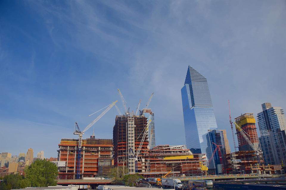 Tower, Crane, Nyc, Manhattan, Architecture, Skyline