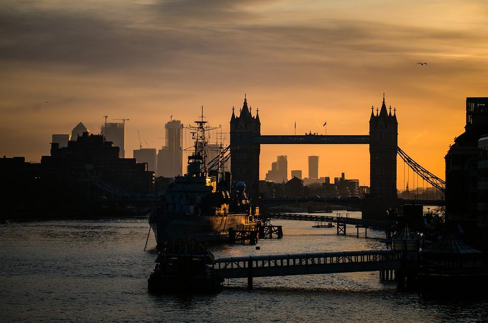 Dusk, Towerbridge, Bridge, London, City, Travel