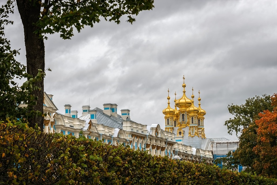 Catherine's Palace, St Petersburg, Russia, Towers, Gold