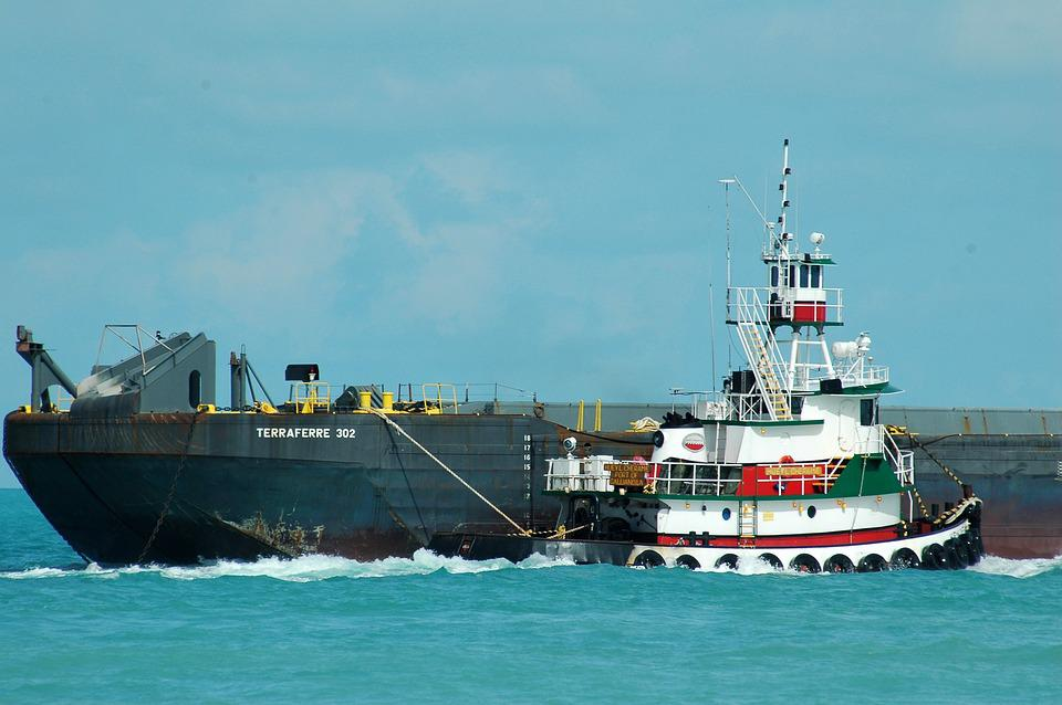Tug Boat, Barge, Towing, Boat, Water, Tug, Industry