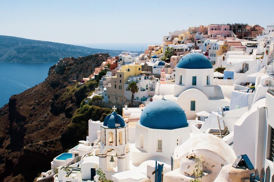 Santorini, Greece, Buildings, Houses, Town, Village