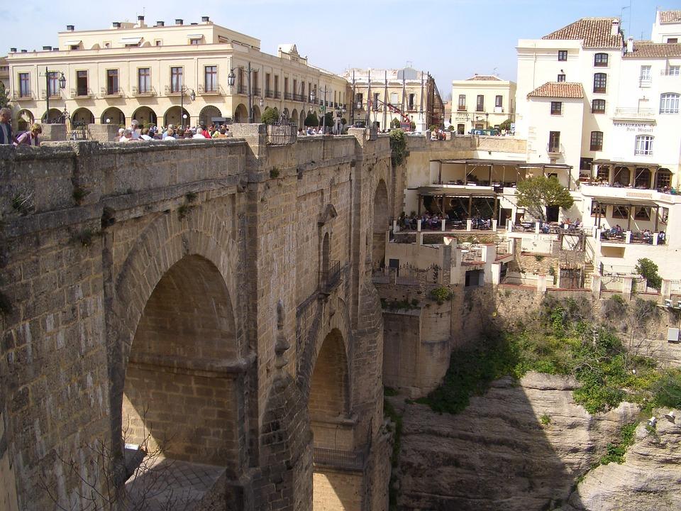 Ronda, Spain, Town, Europe, Architecture, Bridge
