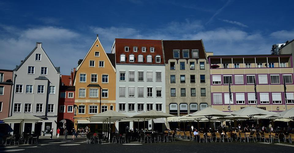 Town Hall Square, Augsburg, Houses, Historic Center