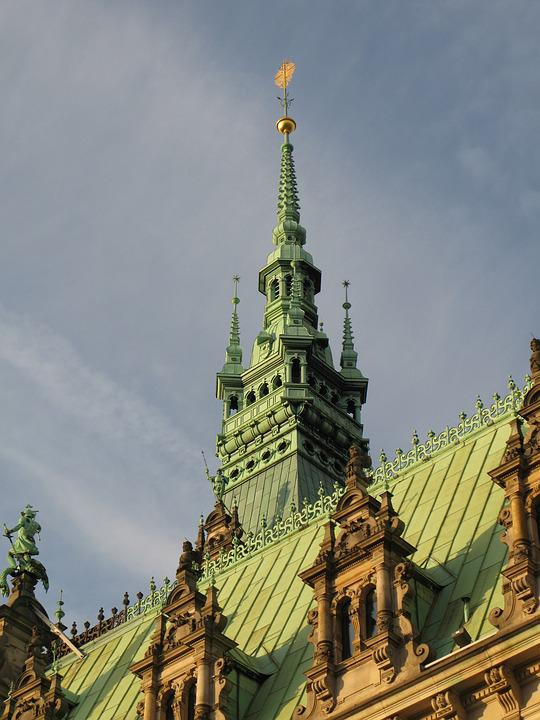 Hamburg, Town Hall, Turret, Tower, Nepal, Landmark