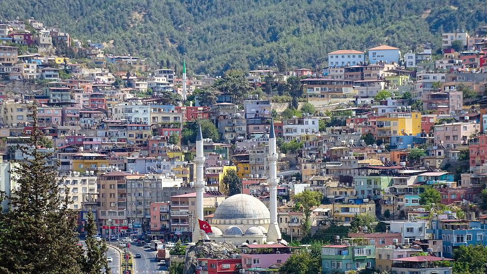 City, Turkey, Town, Hatay, Aerial View, Life, Passage