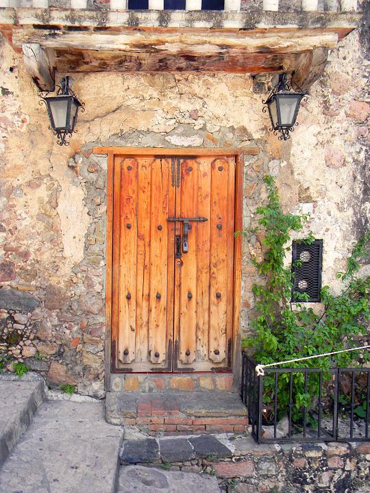 Mexico, Door, Old, Town, Street, House, Vintage