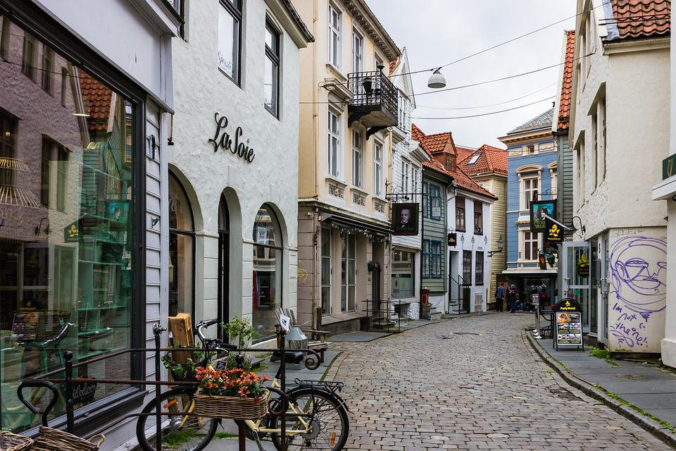 Street, Buildings, Town, Village, Pavement, Road, Alley