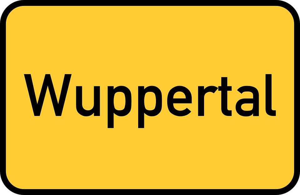 Wuppertal, Town Sign, City Limits Sign, Entry Sign