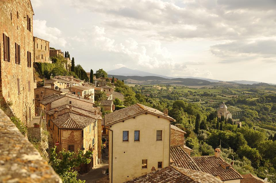 Italy, Tuscany, Holidays, Travel, Town, Townhouses, Old
