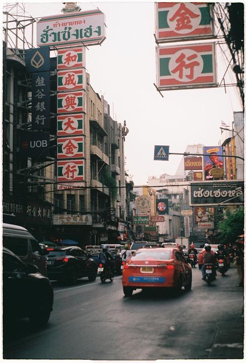 Street, Traffic, Thailand, Road, City, Cars, Town