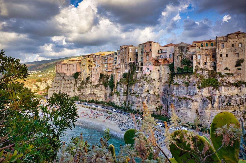 Beach, Houses, Town, Village, Townscape, Coast