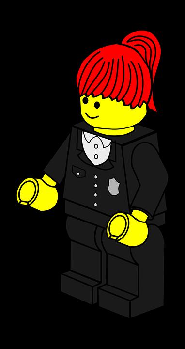 Policewoman, Lego, Toy, Police, Woman, Town