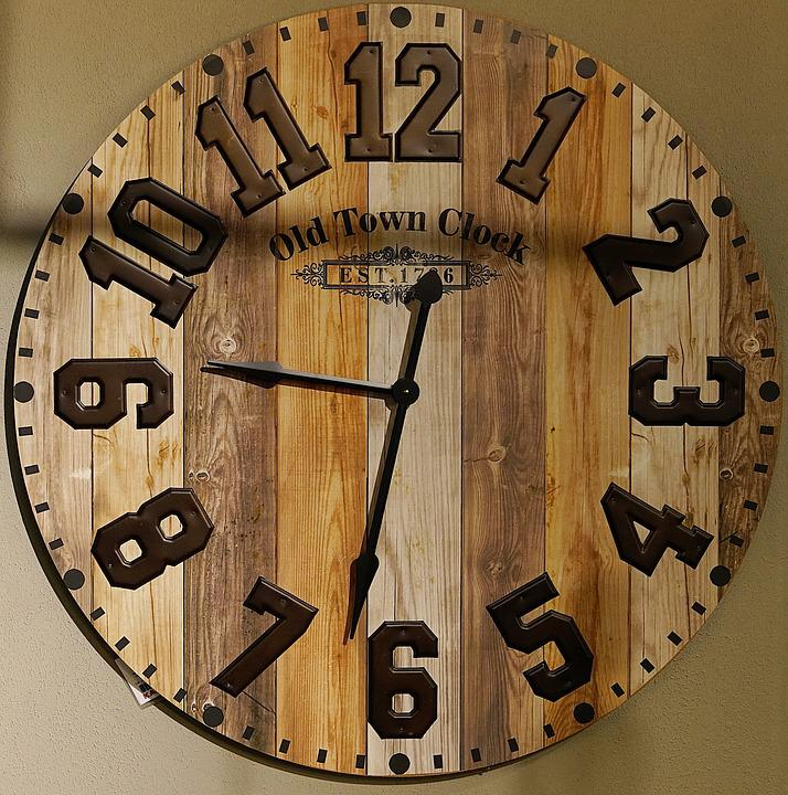 Old, Town, Clock, Indoor, Wall, Wooden