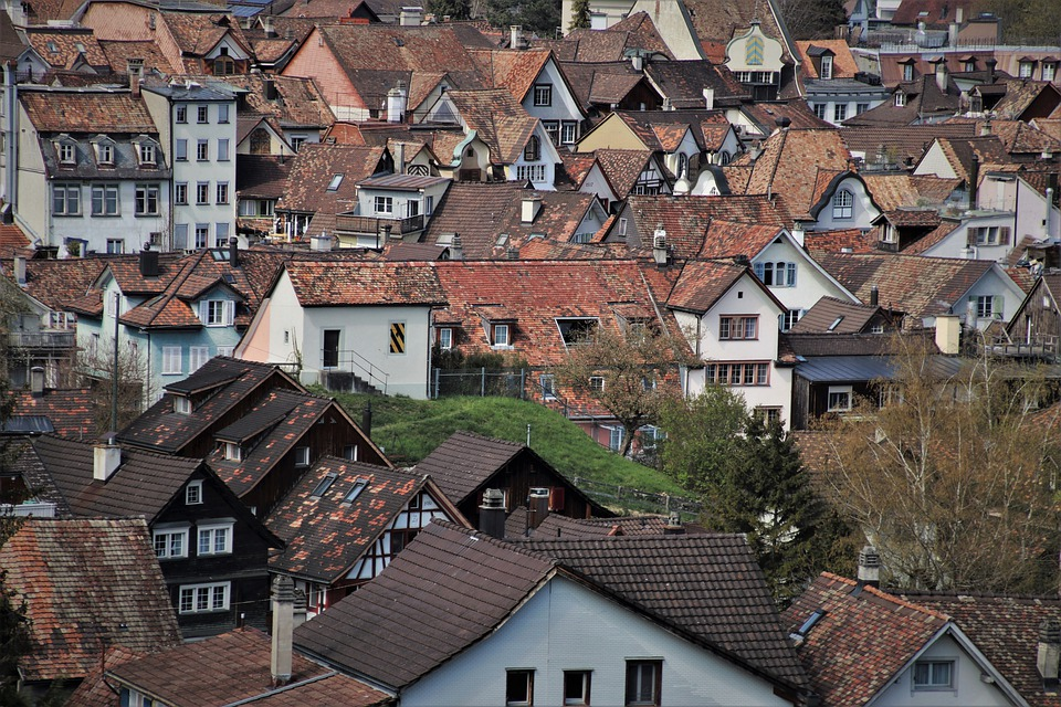 The Roofs, Buildings, Old Architecture, Townhouses