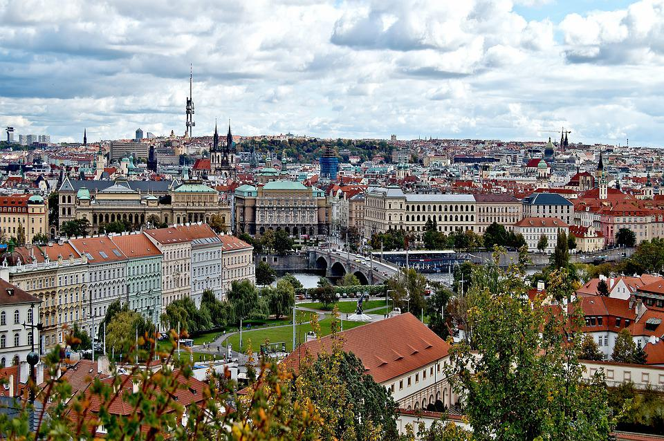 City, Panorama, Houses, Townhouses, Prague