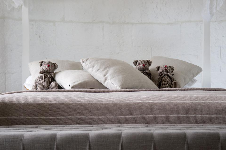 Pillow, Bear, Teddy Bear, Toy, Ornament, Gift, Cute
