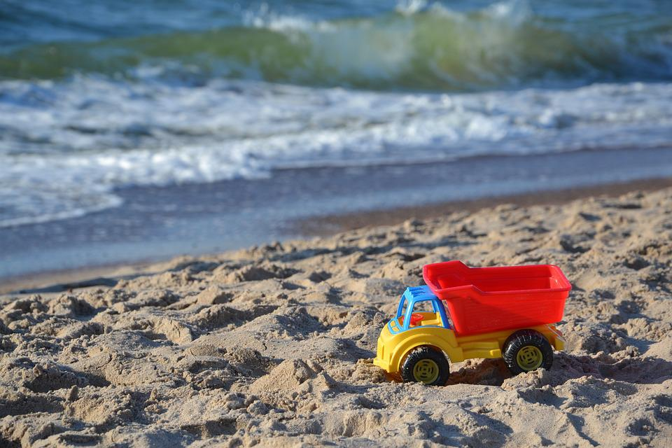 Toy Car, Car, Toy, Toys, Sea, Beach, Sand