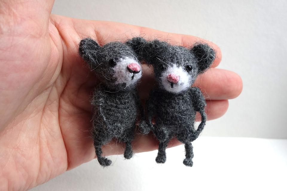 Toy, Mouse, Grey, Kids, Childhood, Knitted Toys, Nicely