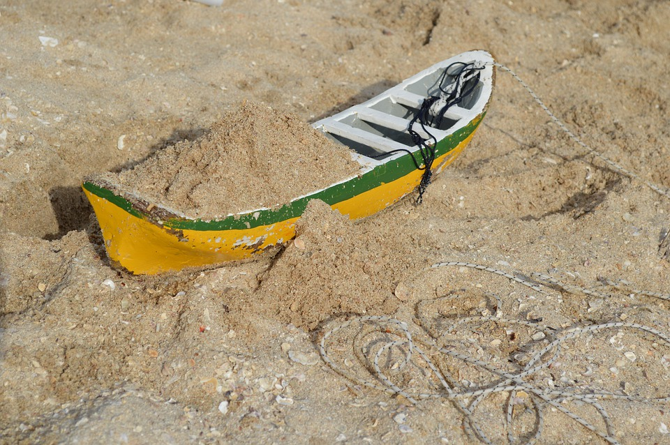 Toy, Sand, Boat, Macro, Fisherman