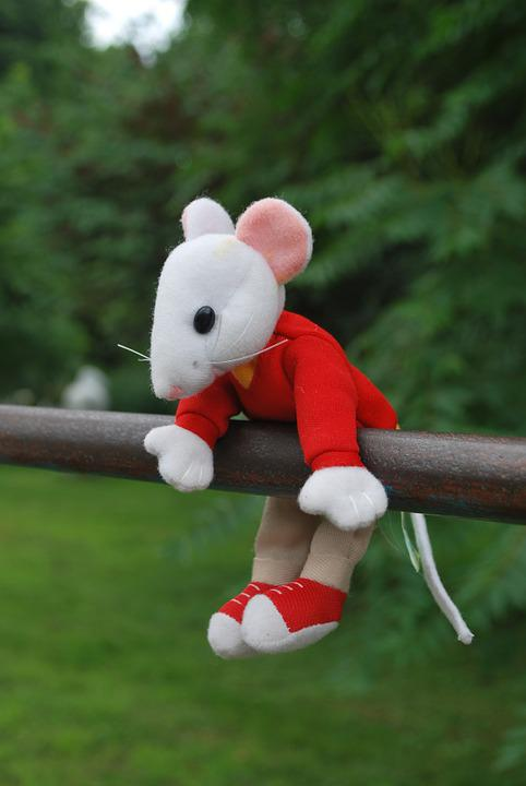 Mouse, Toy, Hanging, Outside, Nature, Stuart, Little