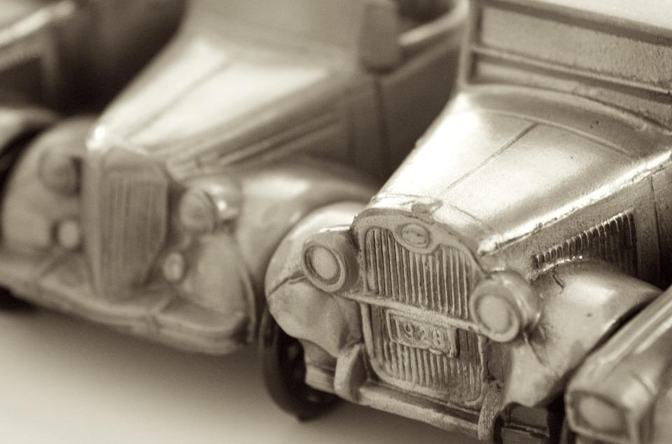 Abstract, Toy, Cars, Pewter, Antique, Ornamental