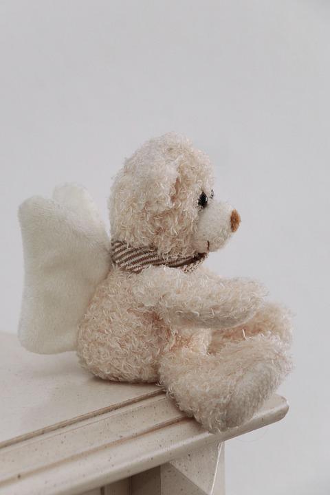 Teddy Bear, Angel, Toy, Plushie, Bear, Stuffed Animal