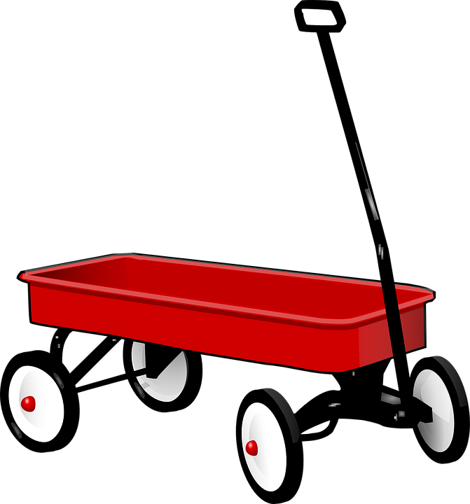 Pull, Wagon, Trolley, Pulling, Cart, Wheel, Toy, Red
