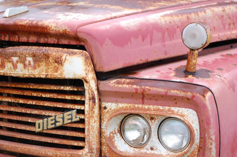 Toyota, Classic Car, Rust
