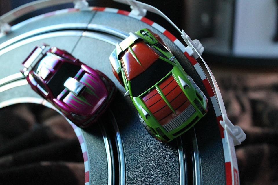 Carrera, Auto, Red, Miniature, Toys, Automotive