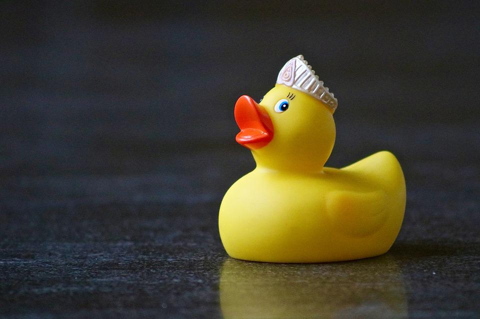 Rubber Duckies, Duck, Yellow, Princess, Plastic, Toys