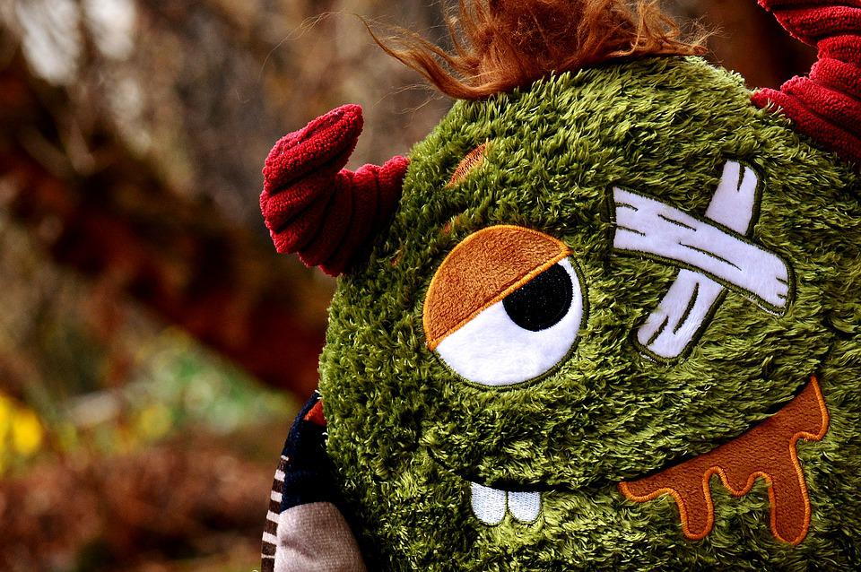 Monster, Stuffed Animal, Funny, Plush, Toys, Figure
