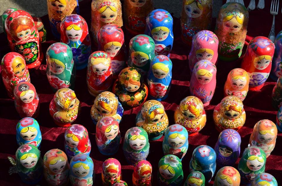 Babushka, Toys, Market, Matryoshka, Doll, Russian