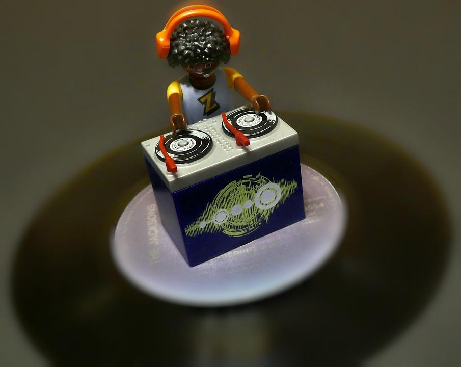 Dj, Disc Jockey, Records, Figure, Toys, Playmobil