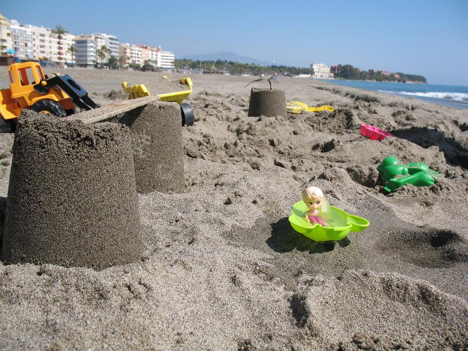 Beach, Sand, Toys, Children