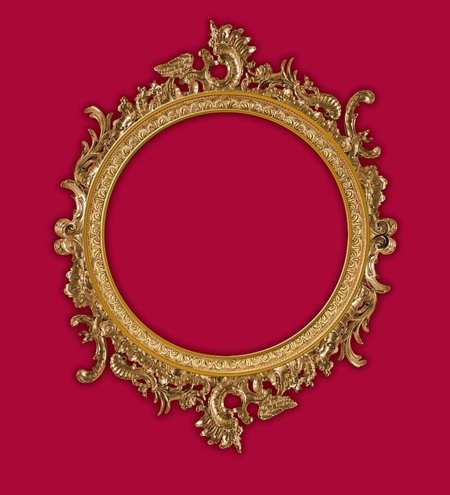 Free photo Tracery Round Frame Frame Framing Frame Gold - Max Pixel