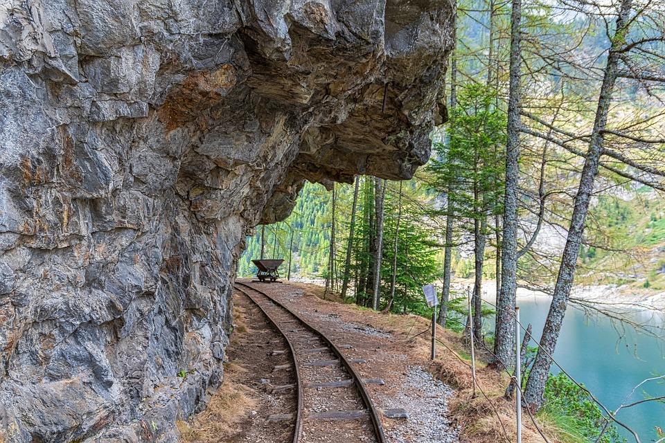 Railway, Lake, Countryside, Track, Abandoned Railway