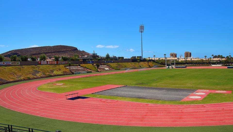 Track, Athletics, 100 Meters, Harrows, Stadium, Field