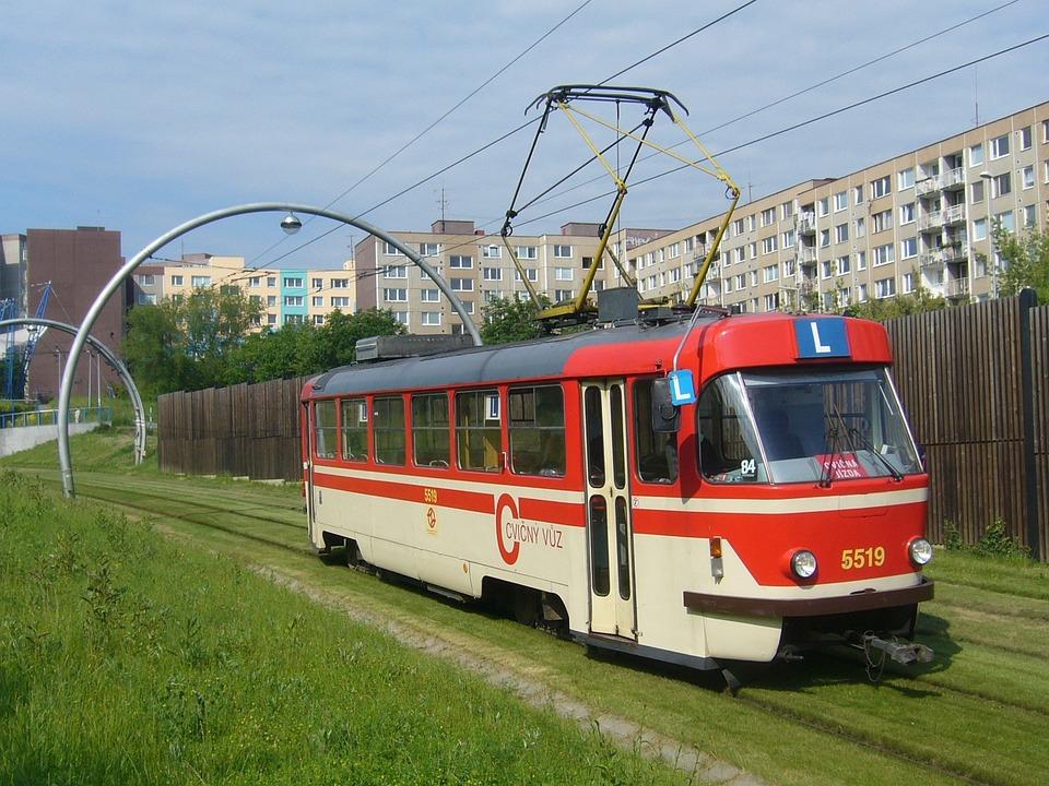 The Tram, School, Track, Prague, Barrandov