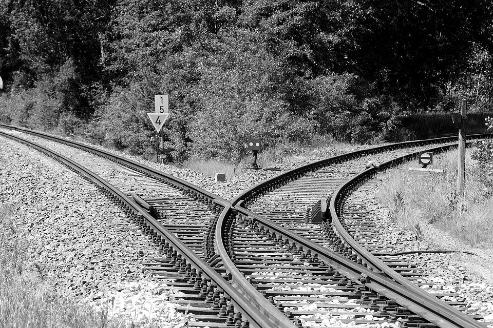 Track, Railway Line, Rail Traffic, Gravel, Track Bed
