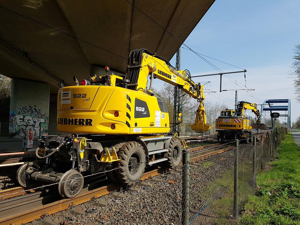 Track Construction Machine, Train, Machine, Seemed